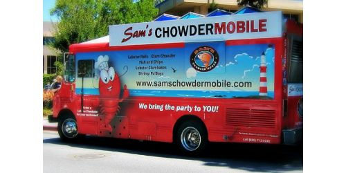 Sam's ChowderMobile truck